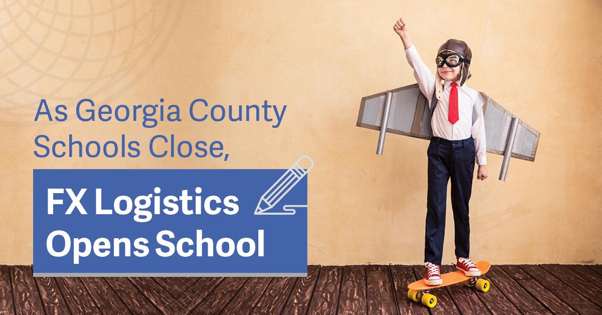As Georgia County Schools Close, FX Logistics Opens School